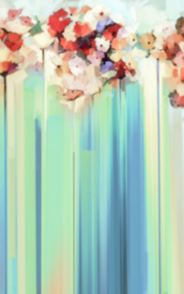 Blue Flower Streaks Backdrop