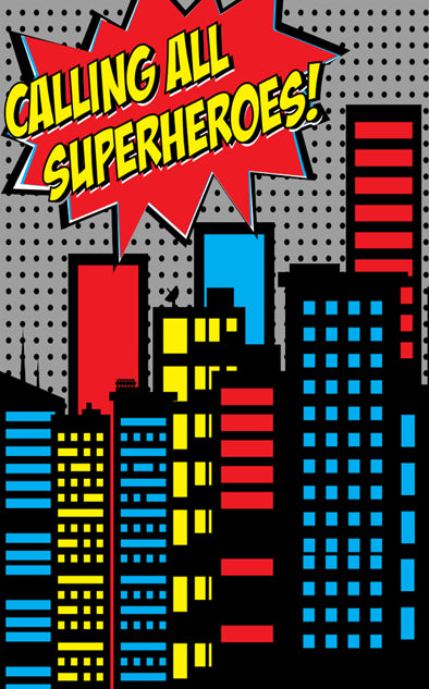 Calling All Superheroes Backdrop Click Props Backdrops