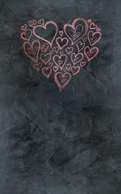 Chalkboard Heart Red Backdrop