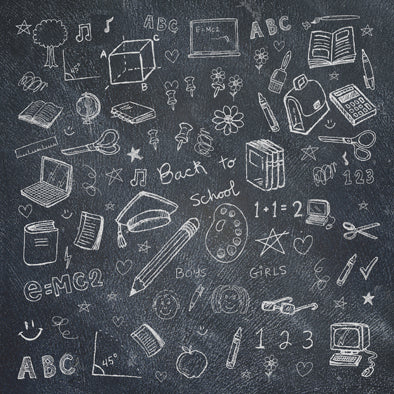 Chalkboard School Backdrop