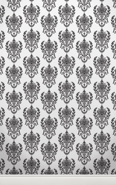 Damask2 W Black • Wallpapers