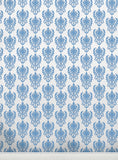 Damask W Blue • Wallpapers