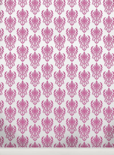 Damask2 W Pink • Wallpapers