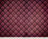Damask Dark Pink • Full Room