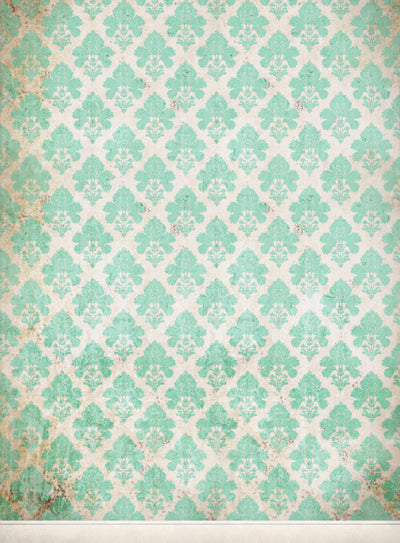 Damask Distressed Green • Wallpapers