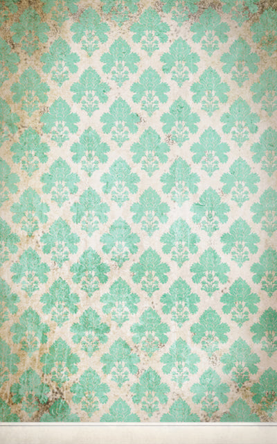 Damask Distressed Blue • Wallpapers
