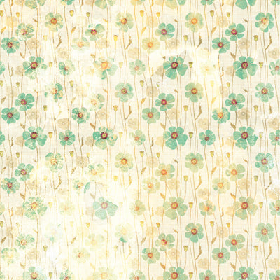 Dirty Green Poppies • Floral Backdrops