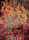 Floral Swirls Purple • Floral Backdrops