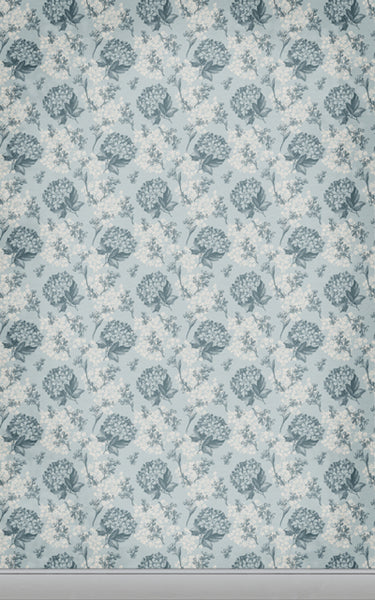 Floral Wallpaper Blue • Floral Backdrops