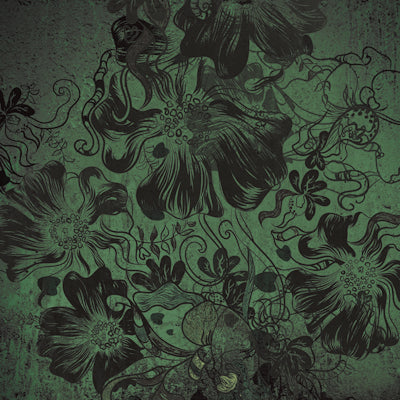 Flowerbomb Green • Floral Backdrops