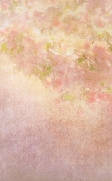 Flower Painting Peach • Floral Backdrops