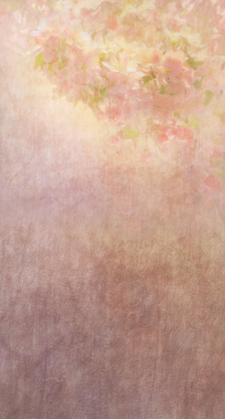Flower Painting Peach Backdrop • Make Mine a Double Plus