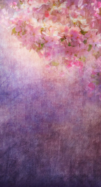 Flower Painting Purple Backdrop • Make Mine a Double Plus