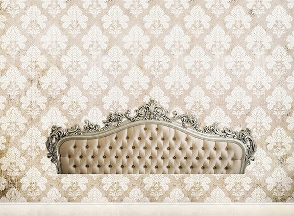Headboard Damask White