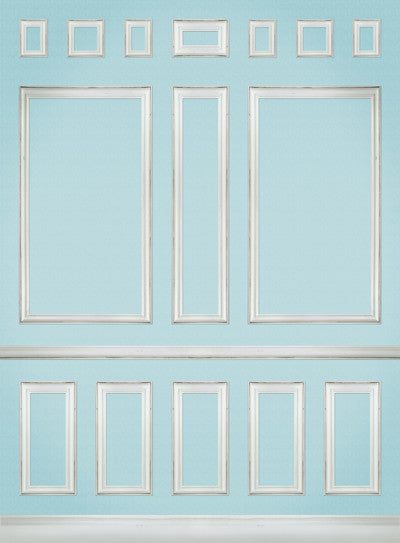 Panels Blue • Elegant Wall Backdrop