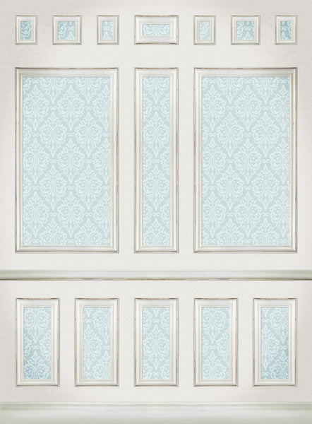 Wallpaper Panels Blue • Elegant Wall Backdrop