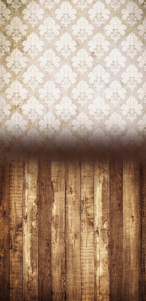 Damask Distressed White •  Double