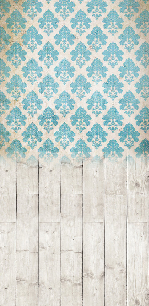 RTS • Damask Distressed Blue • Make Mine a Double