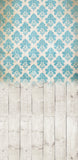 Damask Distressed Blue • Make Mine a Double