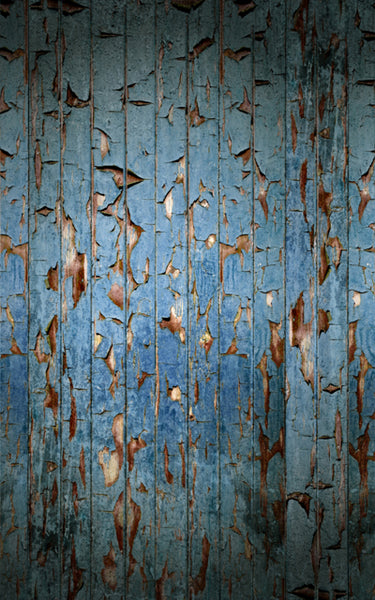 Peeling Paint Blue • Wood, Planks & Floors Backdrops