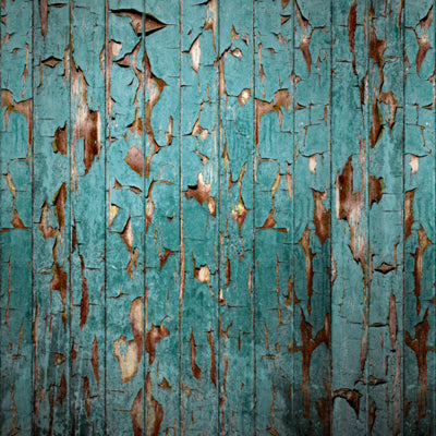 Peeling Paint Teal • Wood, Planks & Floors Backdrops