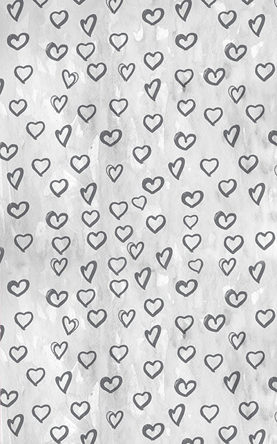 Silver Hearts Backdrop • Love & Romance