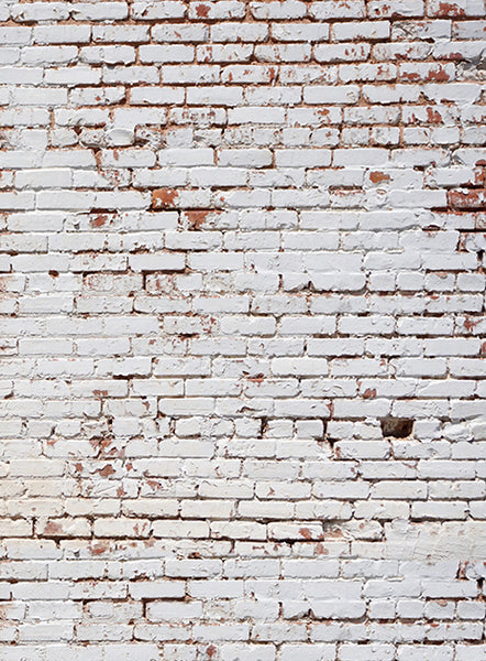 White Painted Brick Wall Backdrop Click Props Backdrops