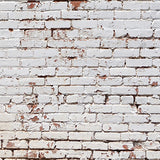 White Painted Brick Wall Backdrop