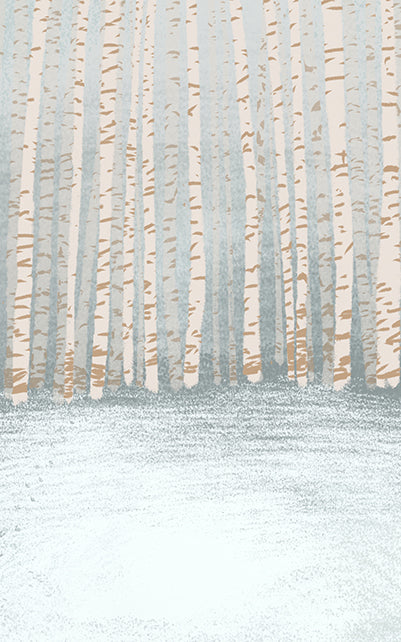 Winter Trees Backdrop • Seasonal • Winter • Christmas