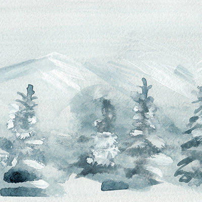 Winter Watercolor Backdrop • Seasonal • Winter • Christmas