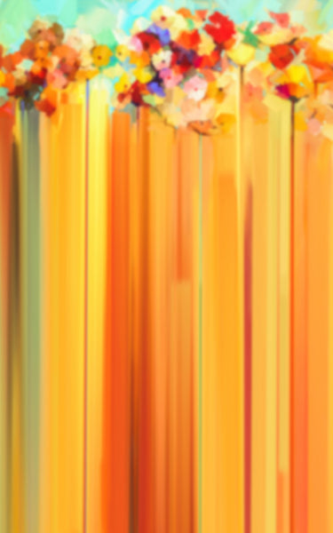 Yellow Flower Streaks Backdrop