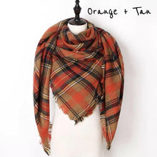 NAOMI TRIANGLE PLAID SCARF | ADULT