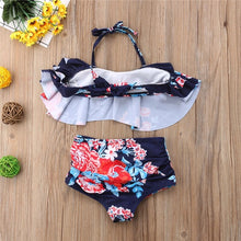 HAVANA BLUE FLORAL BIKINI | CHILD