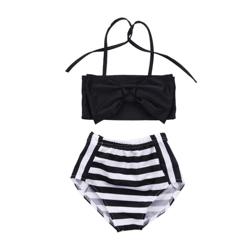 EMMY B&W STRIPE BIKINI | CHILD