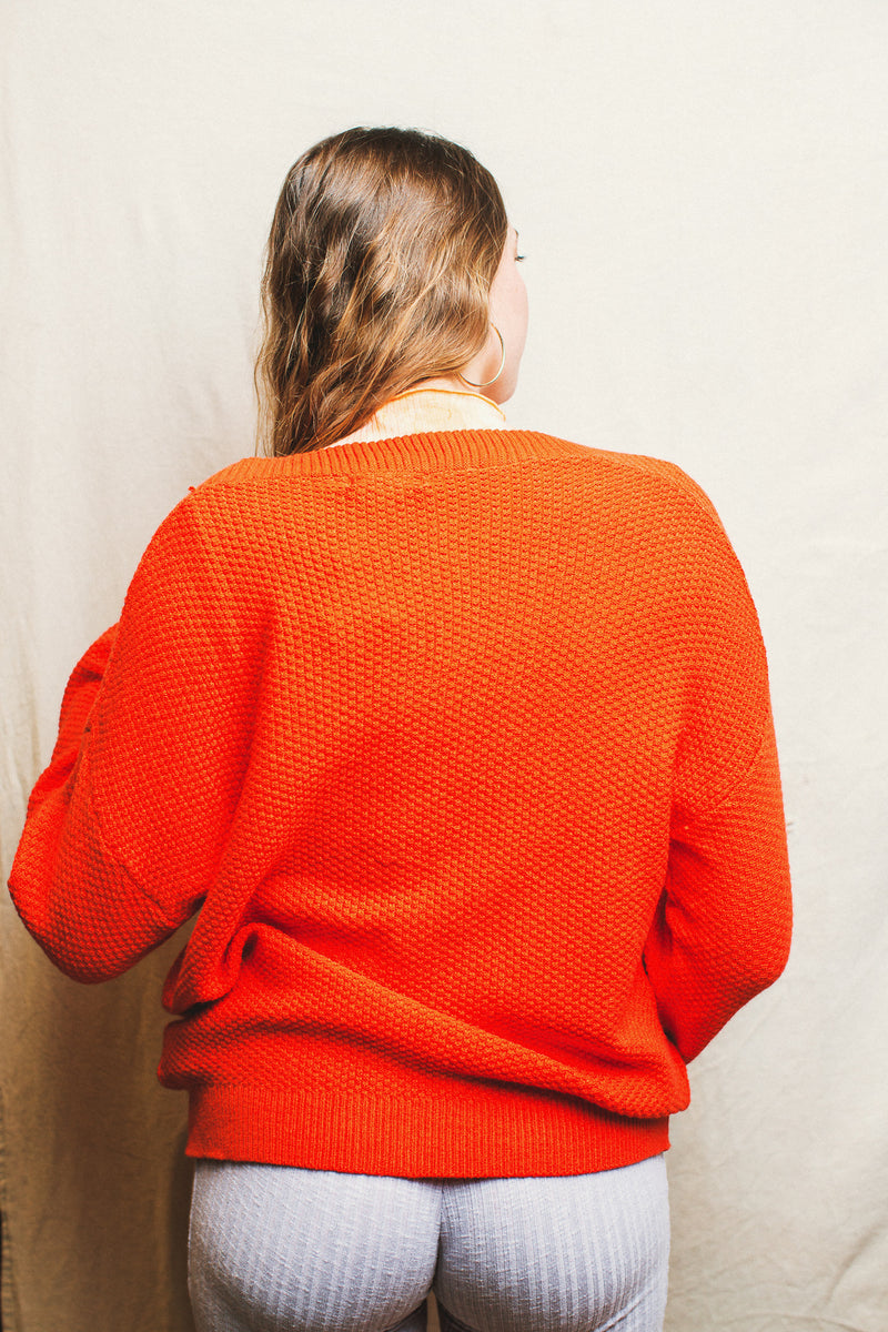 Cobain Cardi // Fire Orange
