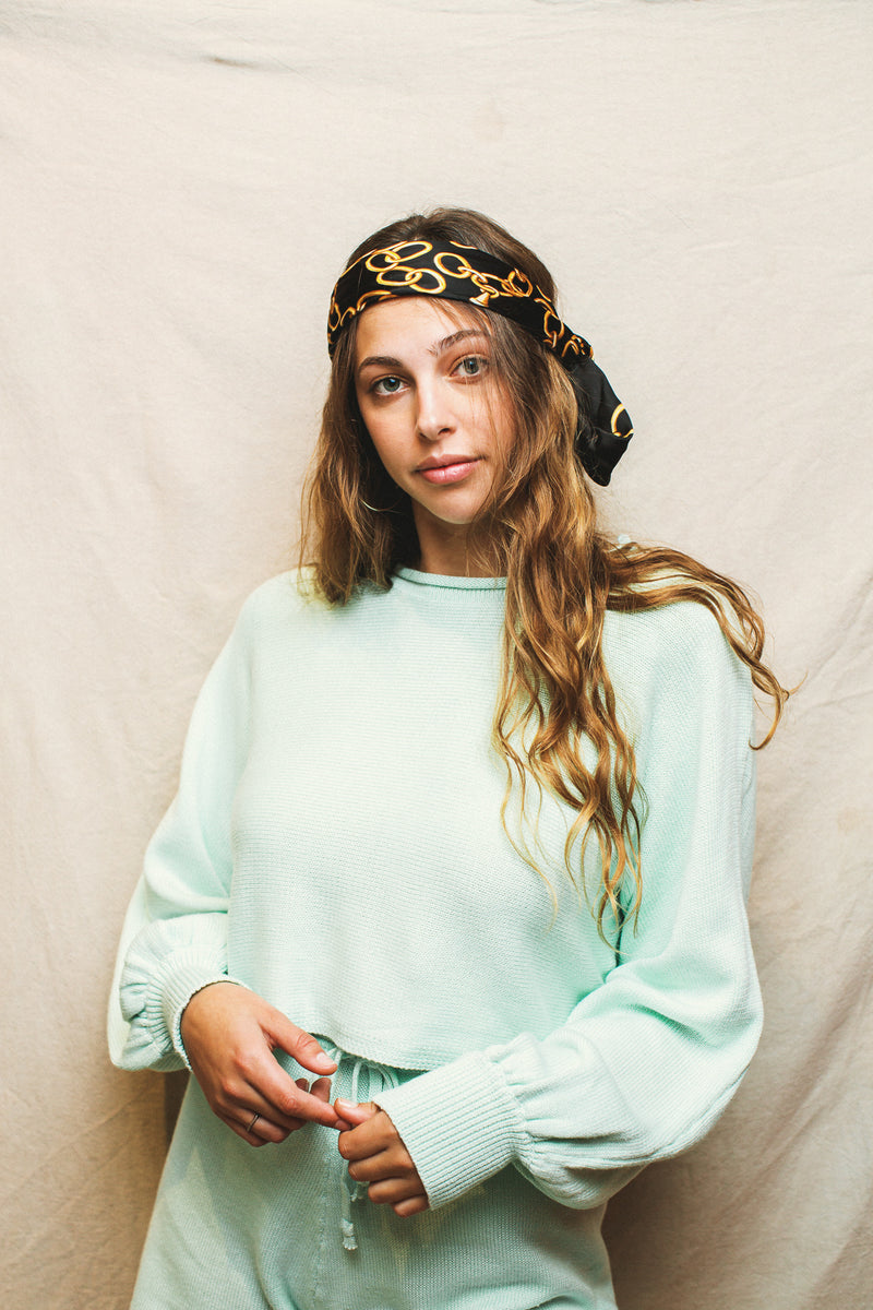 Look Good In Lounge Knit Set // Knit Jumper // Mint Green