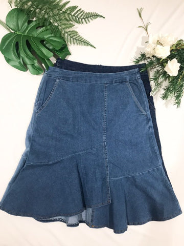 Mermaid Jeans Skirt