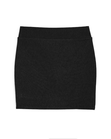 Basic Short Tight Skirt (Black)