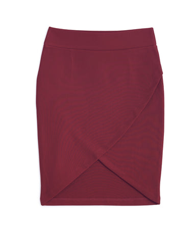Irregular V Tight Skirt (Red)