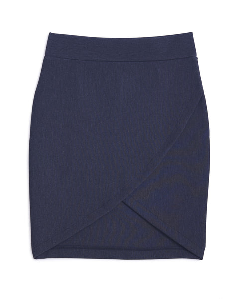 Irregular V Tight Skirt (Grey)