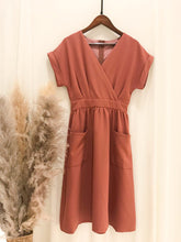 Ditsy Dual Pocket A-Line Dress
