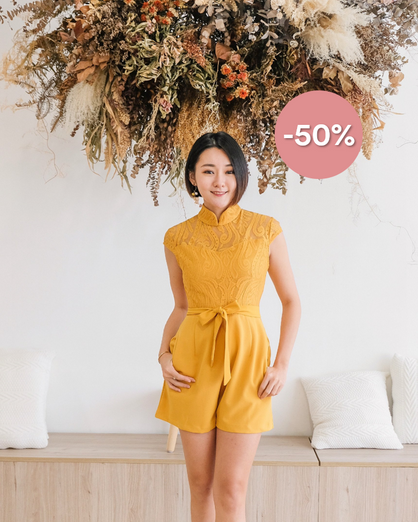 CHEONG LACE SHORT JUMPSUIT