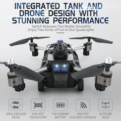 TankDrone® The Ground and Air Quadcopter
