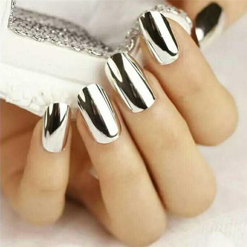 Silver/Gold Metallic Mirror Dip Nail Powder