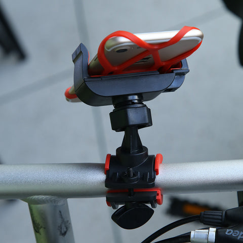 Bicycle / Motorcycle Handlebar Phone Mount - Red