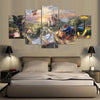 Image of 5 Panels Beauty And The Beast Art Painting