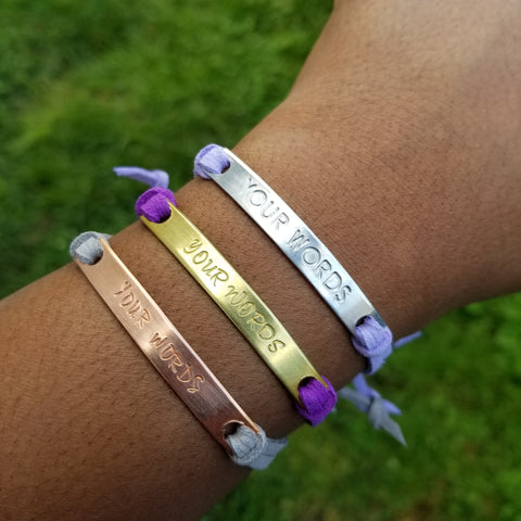create your own custom affirmation bracelets for domestic violence survivors and victims