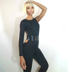 Nik Spruill brand, One Strut Models video, Supermodel, fashion designer Nik Spruill brand, one shoulder jumpsuit, backless