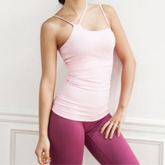 SPACE COLLECTION TANK PINK by Moves Athletix