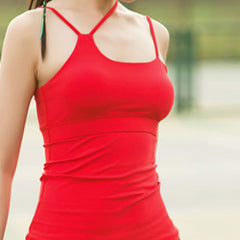 SPACE COLLECTION TANK RED by Moves Athletix